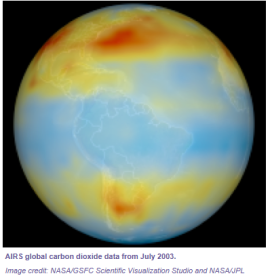 mapa CO2